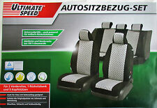 Car Seat sitzbezüge SEAT COVERS COVER UNIVERSAL BLACK GREY 2017