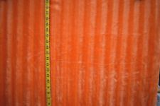 Orange Chenille Faux Fur Acrylic Poly Back Faux Fur By The 1/2 Yard