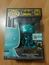 Funko Pop Batman Teal Chrome #144 DC Comics SDCC 80 Years Exclusive New In hand