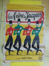 Affiche ancienne originale Les FRERES JACQUES en bon état