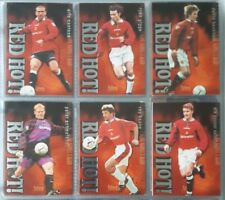 Futera Manchester United Red Hot Complete 8 Card Insert Set 1997