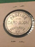 Vintage Token Pastime Card Room Peshastin W.N. 25 Cents In Trade Vintage Coin T3
