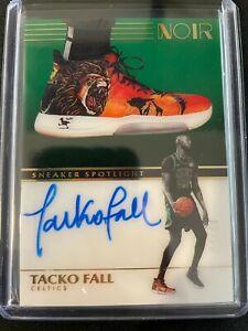 2019-20 Noir Basketball Tacko Fall Rookie Auto Sneaker Spotlight 60/99 Celtics