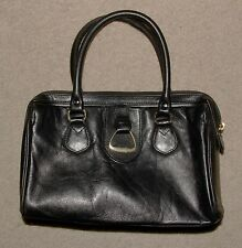 Worthington Black Leather Doctor Style Handbag Medium Size Purse