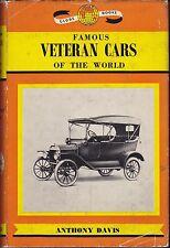 Famous Veteran Cars of the World by Anthony Davis (Hardback, 1963)