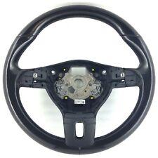 Genuine OEM VW Passat B7 black leather DSG steering wheel.        2D
