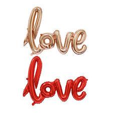 las letras LOVE en foma de globo metálico de decoración de fiesta de navidad WS