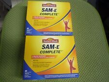 2X60 Nature Made SAM-e 400 mg Complete Healthy SAMe Sam e Mood Plus 60 Tablet W6