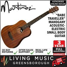 NEW Martinez Babe Traveller Mahogany Acoustic-Electric Mini Travel Guitar