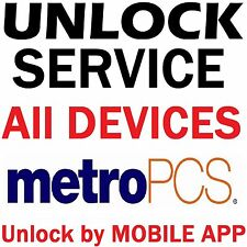 Metro PCS USA Samsung LG HTC Sony ZTE Alcatel Kyocera Moto E Unlock App Service