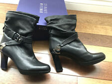 Stuart Weitzman platform Leather Boots BLACK Size 6