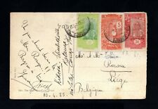 769-FRENCH SOMALIS COAST-OLD POSTCARD DJIBOUTI to LIEGE (belgium)1925.Carte post