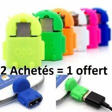 mini Robot Micro USB Male vers USB 2.0 Femelle OTG Adaptateur smartphone Android