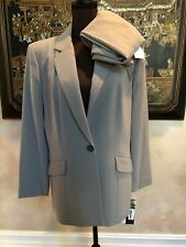 NWT Le Suit Sage Green Pant Blazer Jacket Suit  Dillard's $270 16