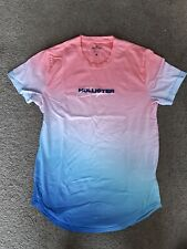 MENS HOLLISTER OMBRE T-SHIRT SIZE SMALL PINK TO ROYAL BLUE