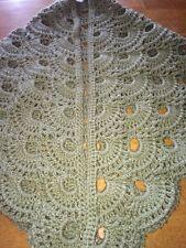 Green Handmade Crocheted Shawl