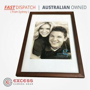 """UR1 10 inches x 15 inches Walnut Wood Photo Frame with matting for 8x10"""" Display"""