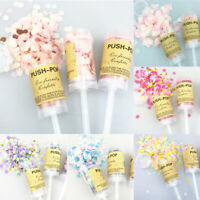Wedding Push Pop Confetti Paper Poppers Cannons DIY Party Decoration 16 Colors