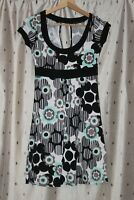 Jane Norman ~ Pretty Floral Stretch Viscose Dress ~ Size 10