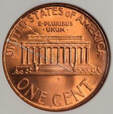 2000 ANACS MS66RD Struck Thru Fragment Lincoln Cent Mint Error Great Eye Appeal