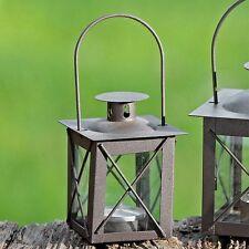 Metall Mini Laterne Farol dunkelbraun - H 10,5 cm - Teelichthalter, Windlicht