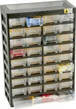 Allit Kleinteilemagazin VarioPlus Basic 54 schwarz/gelb Außenmaße 30,5 x 13,5