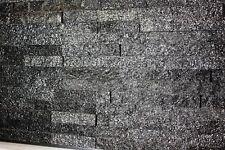 1 Muster Naturstein Riemchen Quarzit Steinwand schwarz Fliesen Muster 44?/m²