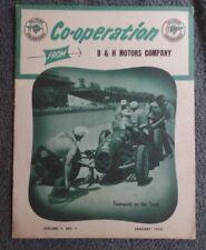 Co-Operation D&H Motors Vol 1 #1 Jan 1955 Pontiac Brochure Booklet Race Car Cov