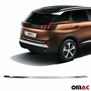 Fits Peugeot 3008 2016-2021 Chrome Lower Trunk Door Tailgate Trim Stainless