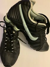 Nike Shox Junior Womens Size 8.5 Black Lace Up Running Shoes 454339-007