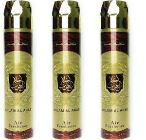 3 x Ahlam Arab Air Freshener 300ml Ard Al Zaafaran Perfumes Dubai Arab