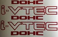 i-VTEC DOHC 2x Red Vinyl Decal Stickers Emblem Honda Acura ivtec
