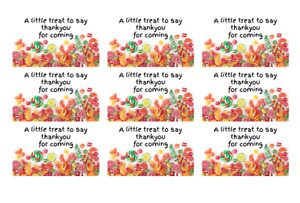 42 x Personalised Birthday Stickers Labels Party Bag Thank You For Coming To My