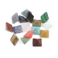 Crystal Healing Wicca Set of 7 Chakra Pyramid Stone Set Natural Spirituality New