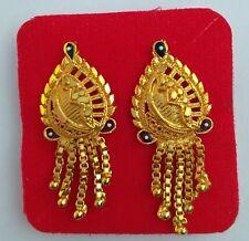 12k Gold Plated Indian Designer Traditional Ethnic Stud Women Girls Earrings