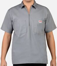 Ben Davis Short Sleeve Shirt Half Zipper with 2 Pockets Men Solid, Stripe, Plaid