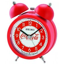 Seiko x  Coca Cola Twin Bell Quiet Sweep Snooze Light Alarm Clock QHK905R