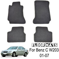 Custom Fit Nylon Car Floor Mats Liner Carpet For Benz C-class W203 01-07 LHD