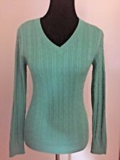 SONOMA SWEATER SZ S~JADE (DERBY) GREEN~PULLOVER~LONG SLEEVE~THIN CABLEKNIT