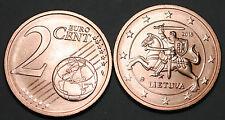 Lithuania 2015 2 Euro Cent Coin BU Very Nice KM# 206