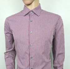 """Paul Smith Mainline Mens Shirt Slim Fit Red Gingham Check Size 17 Chest 46"""" New"""