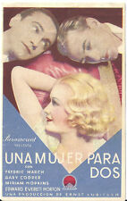 D DESIGN FOR LIVING LUBITSCH GARY COOPER MIRIAM HOPKINS SPA HERALD MINI POSTER D