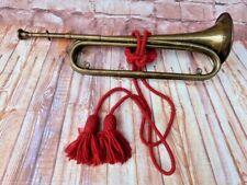 More details for antique vintage brass boys brigade bugle horn