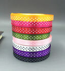 25 Yards 10mm DIY Satin Ribbon dot Wedding Party Decoration Craft Sewing
