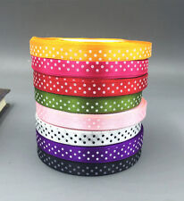 25 Yards 10mm DIY Satin Ribbon dot Wedding Party Decoration Craft Sewing