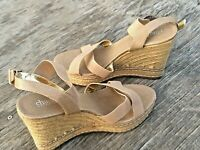 Womens Charles By Charles David Nude Strappy Sandals Espadrille Wedges Size 9M?