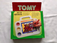 Rare Vintage 1980's TOMY Children colouring paint board game PETIT ARTISTE