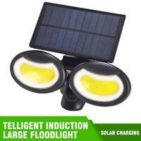 Lampe Solaire LED avec Détecteur de Mouvement Extérieur Projecteur Capteur