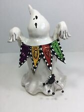 Blue Sky Boo Ghost And Spider Votive Halloween Tealight Candle Holder Goldminc