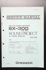 Pioneer sx-300 ORIGINAL SERVICE MANUAL/Service-Guide/schéma de branchement!
